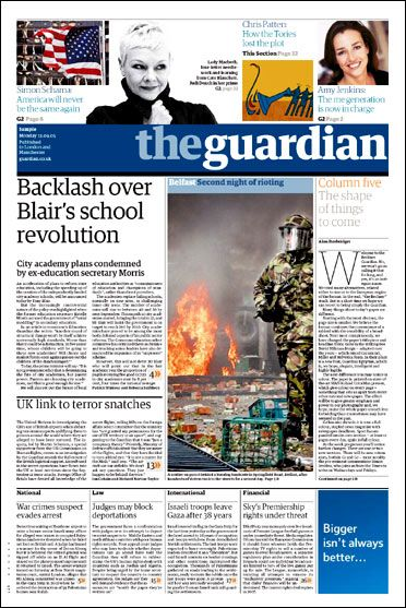 The Format Of The Guardian Was Used To Inspire The Front Page Of