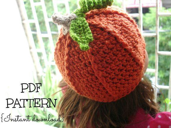 Crochet Pumpkin Hat Pattern Crochet Hat Pattern Pumpkin Hat 4