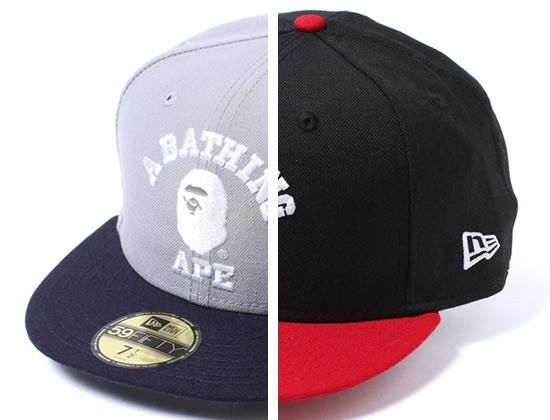 College 59Fifty Fitted Cap by BAPE x NEW ERA  1cd31cbbf7b4