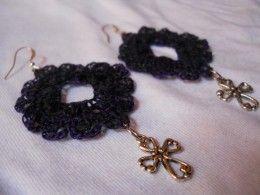 Crochet Diamond Earring #2
