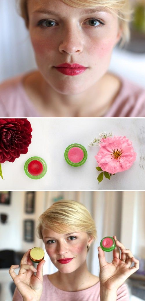 Beauty DIY: How to create a new magenta shade for lips and cheeks by combining two natural Tata Harper shades!