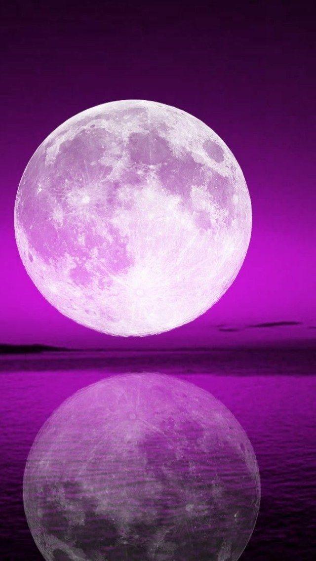Purple lavender lilac moon sea ocean iphone phone - Purple moon wallpaper ...
