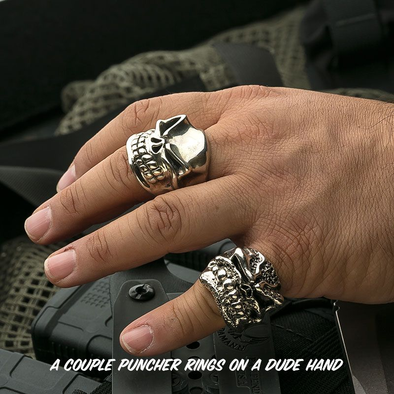 Starlingear Puncher Rings on Man Hand