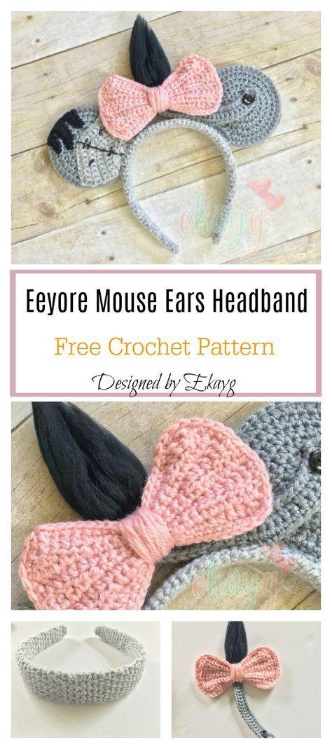 Eeyore Mouse Ears Headband Free Crochet Pattern | crochet patterns ...