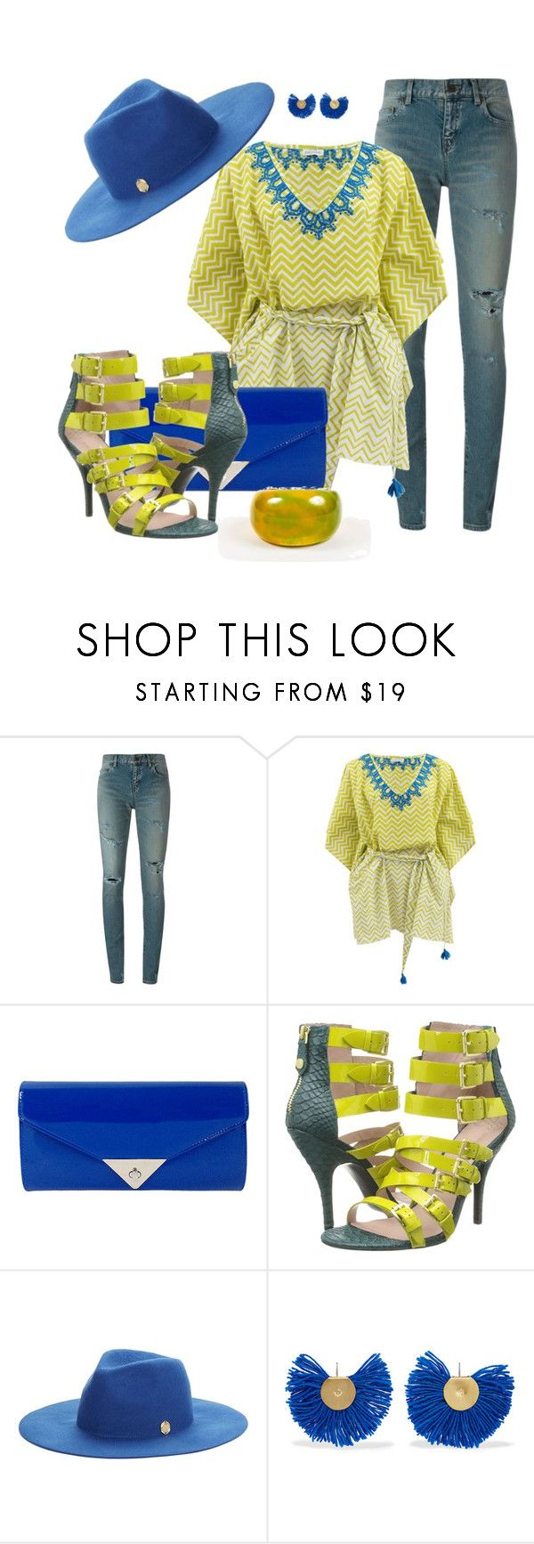 """WEEKEND GURL by DaNewMeh"" by thchosn ❤ liked on Polyvore featuring Yves Saint Laurent, Banjanan, JNB, Vivienne Westwood, Vince Camuto and Katerina Makriyianni"