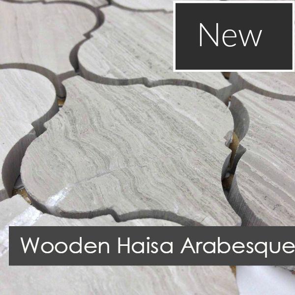 Discount Glass Tile Store - Stone Arabesque Tile - Wooden White Marble $15.29…