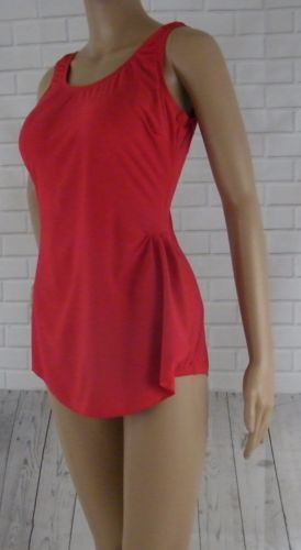 9f5ed538e7412 Shore-Shapes-One-Piece-Swimsuit-Red-10-Slimmer-Tummy-Flattens-Slenderizes