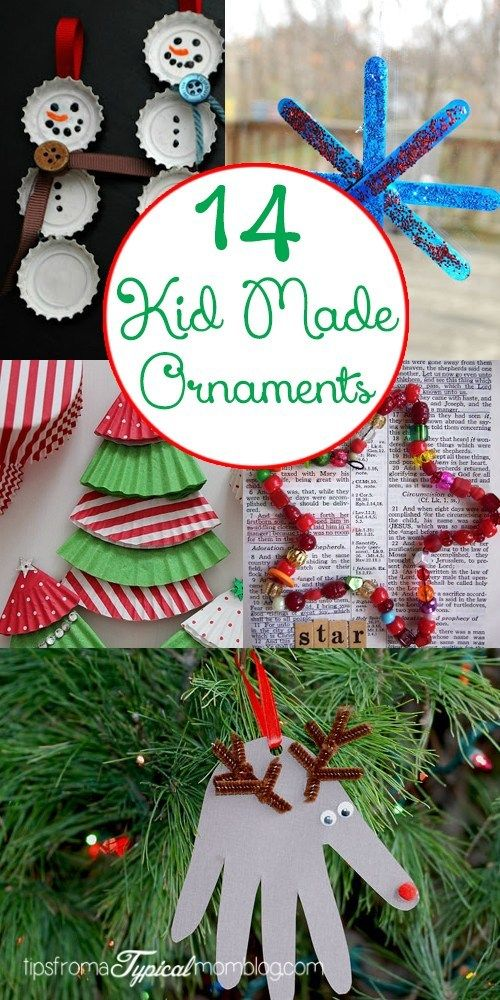 14 Kid Made Christmas Ornaments - Tips from a Typical Mom
