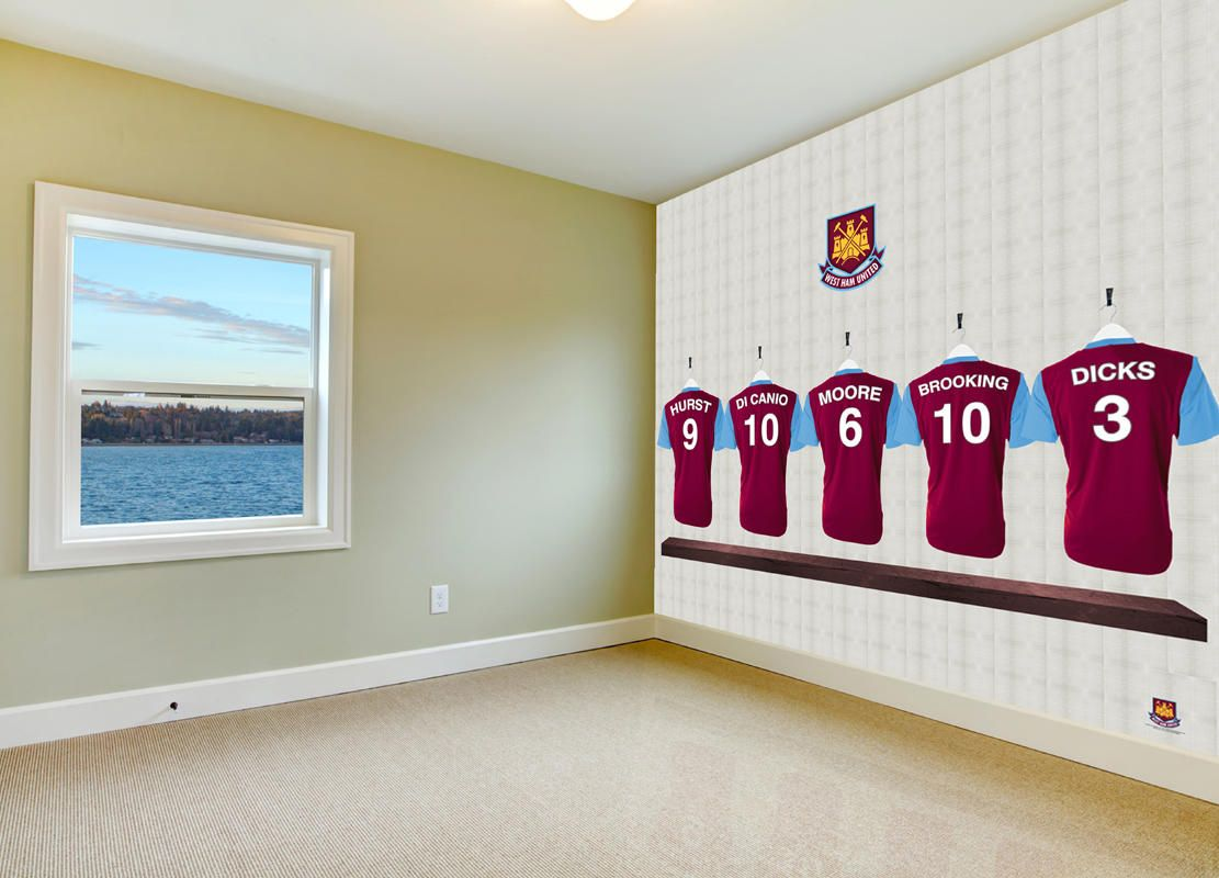 Boys football bedroom ideas - Dressing Room Heros In Your Bedroom Official West Ham United Fc Wallpaper Endorsed By The