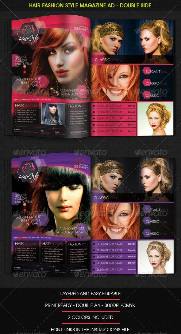 hair salon ads