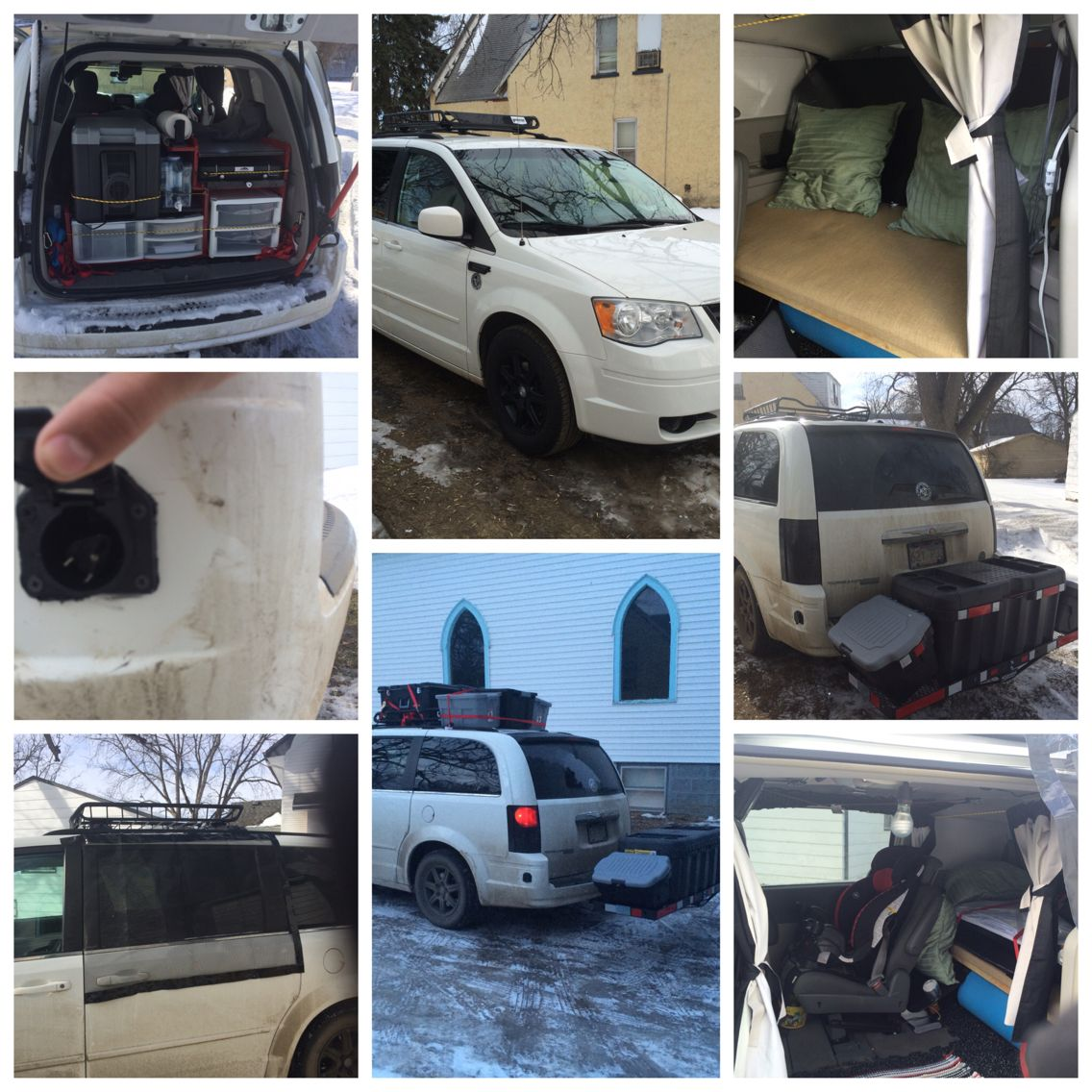 2008 Chrysler town and country minivan camper  My dream for