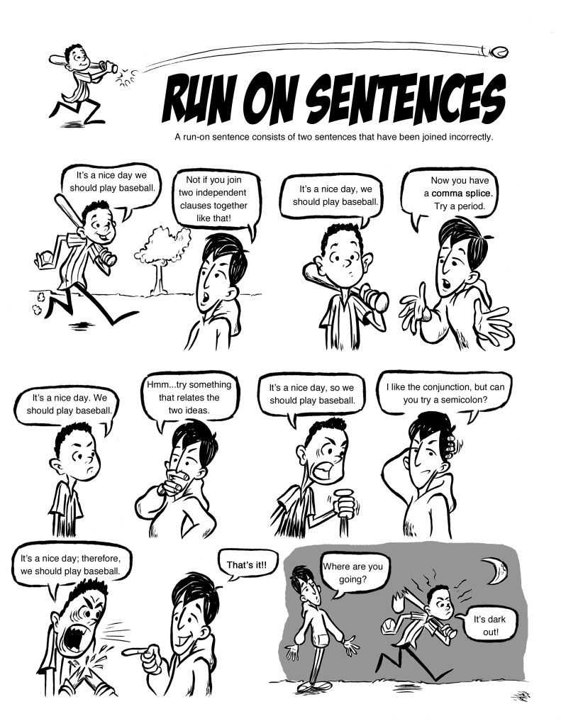 Pennington press lessons on grammar pinteres run on sentence comic ccuart Choice Image