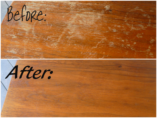 how to fix scratches on wood furniture | vinegar, cups and oil