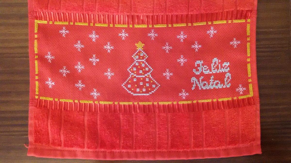 Toalha Lavabo de Natal