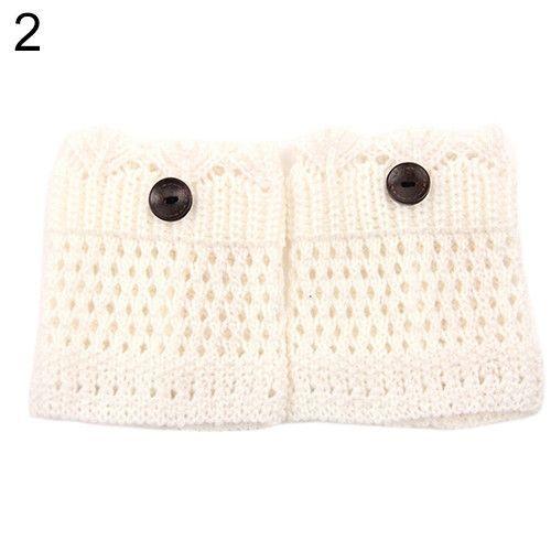 Crochet Knit Boot Sock Cuffs