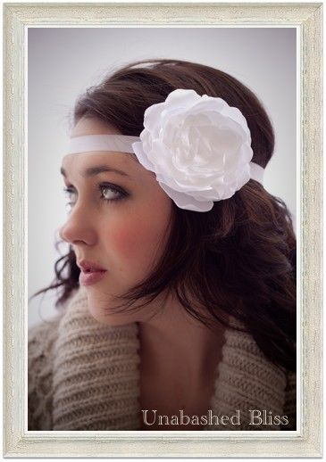 white garden rose hair flower w removable by unabashedbliss 3500