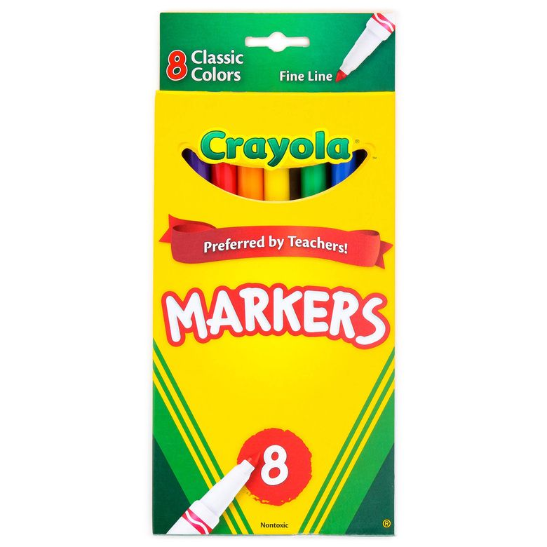 Crayola Set Of 8 Thin Markers Crayola Set Markers Back To
