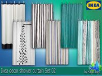 Corporation SimsStroy The Sims 4 Decor Ikea Shower Curtain Set 02