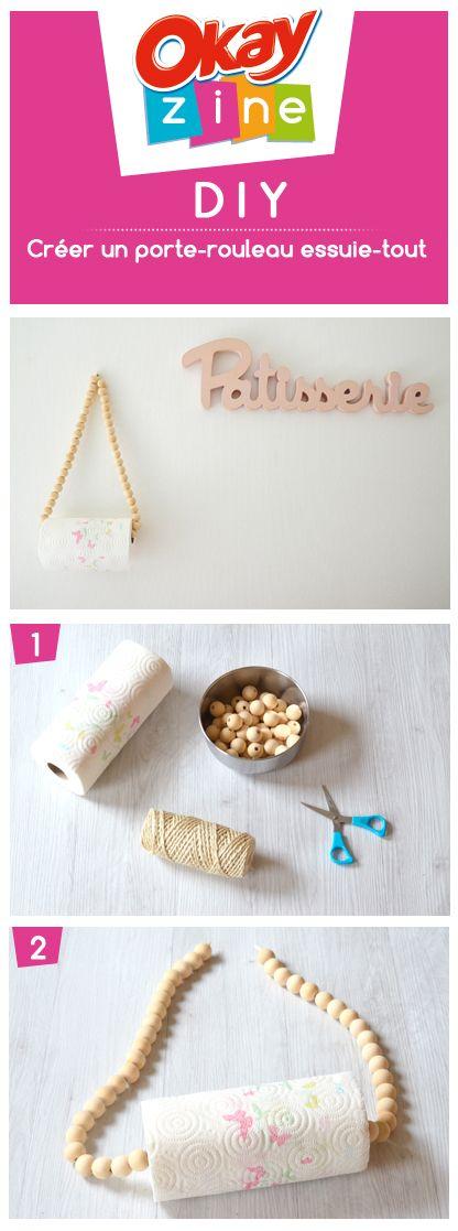 DIY  Fabriquer un porte-rouleau essuie-tout tendance