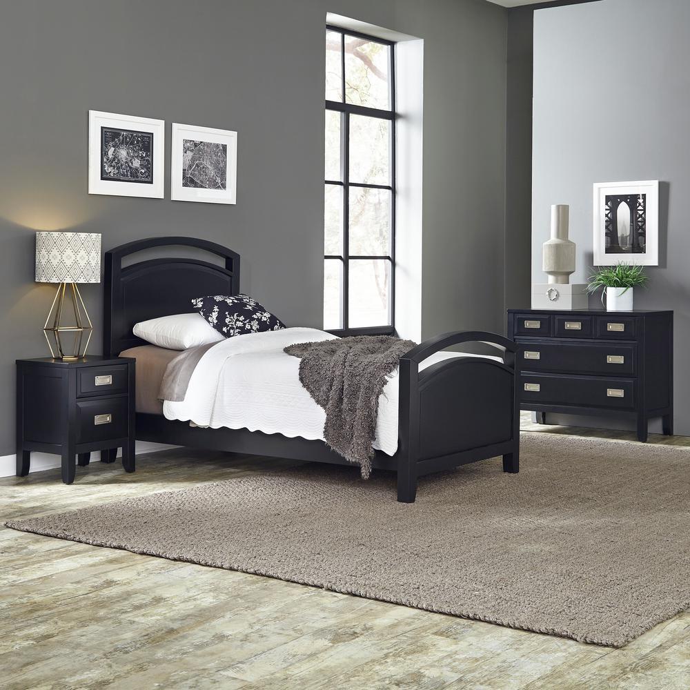 black twin bedroom set 5514 4021