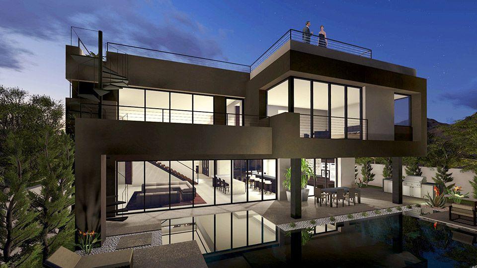 Sky Terrace Blue Heron Custom Homes Architecture Estate Homes