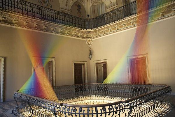 Mexican Artist, Gabriel Dawe, Creates Astounding Rainbow Light Installations With Thread