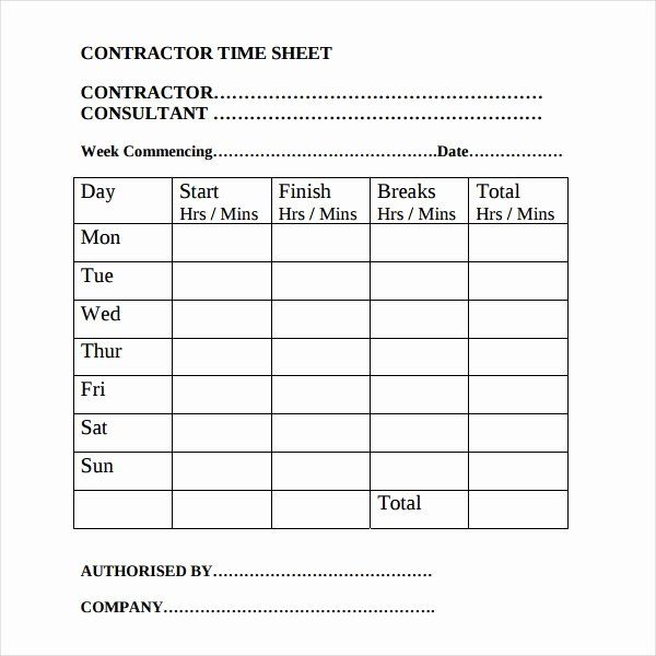 General Contractor Business Plan Template Awesome 17 Contractor Timesheet Templates Docs Word Pages Business Plan Template Templates Card Template