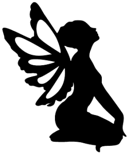 Image result for silhouette fairy jars fairy silhouettes for Fairy cut out template