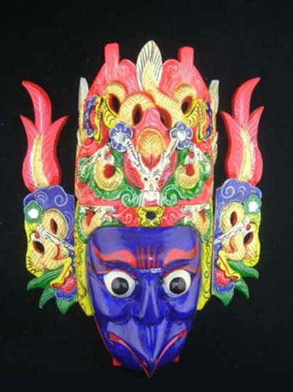 Wall Mask Decor Unique Chinese Drama Home Wall Décor Opera Mask 100% Wood Craft Folk Art 2018