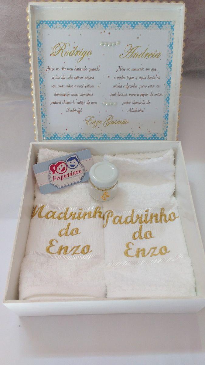 Caixa Convite Ou Lembrança Aos Padrinhos De Batismo Crisma