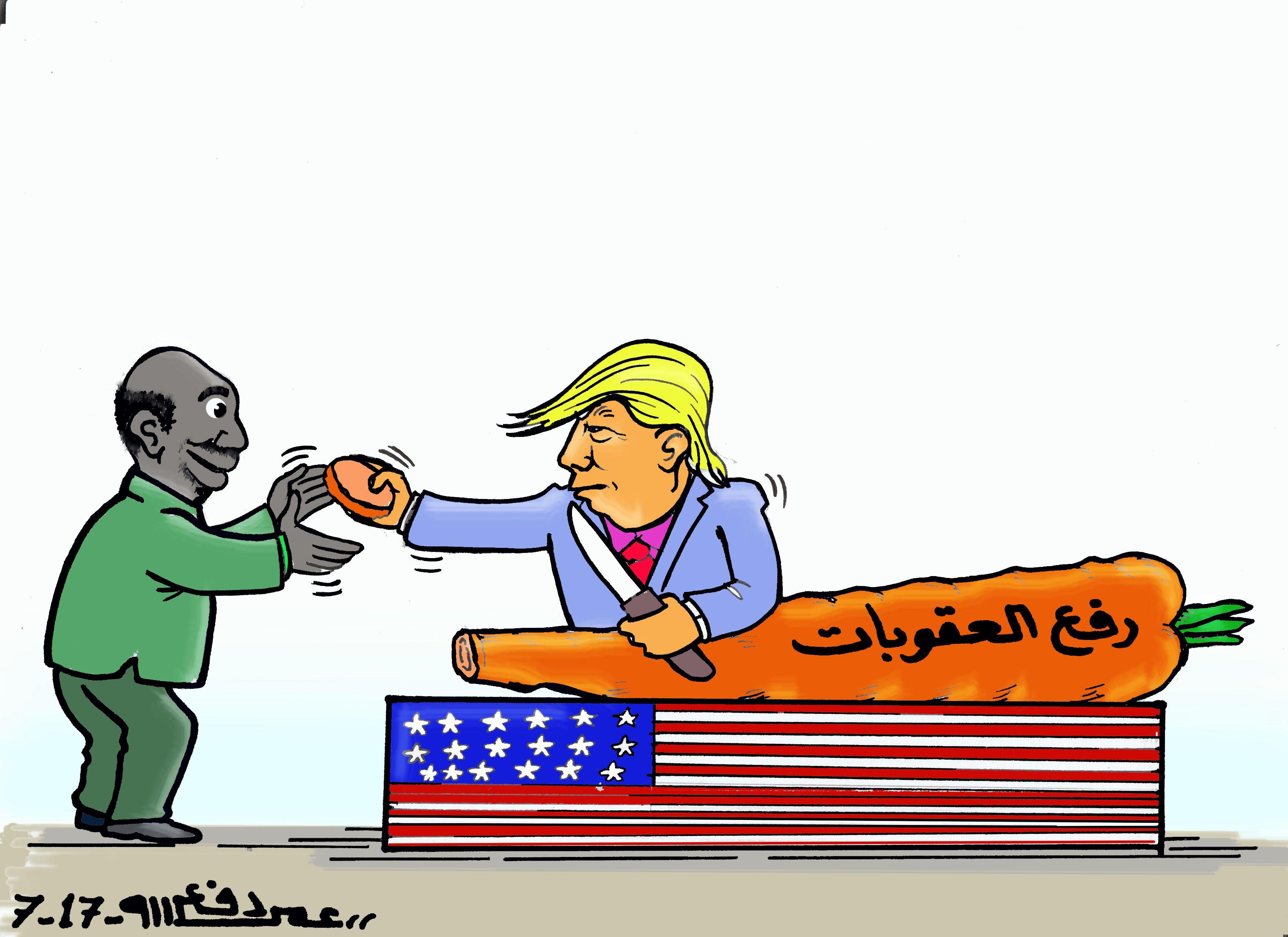 كاركاتير اليوم الموافق 13 يوليو 2017 للفنان عمر دفع الله