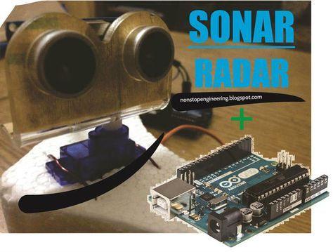 Sonar radar system using arduino servo ultrasonic hc sr
