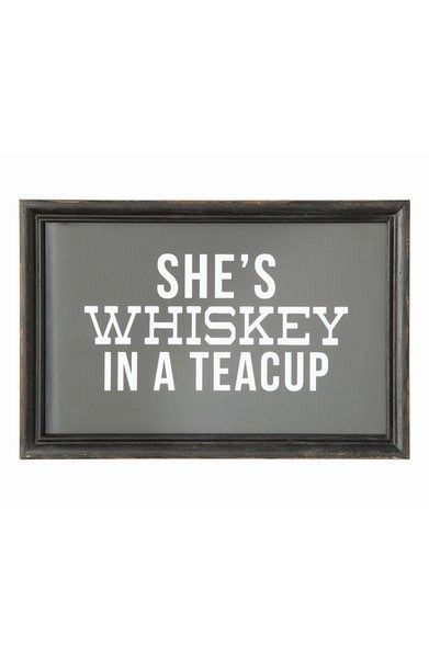 'Whiskey in a Tea Cup' wall art for your home bar set-up!