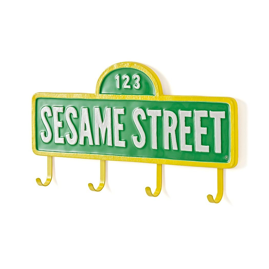 Shop Sesame Street Sign with Wall Hooks. Getting to Sesame Street just  became much easier