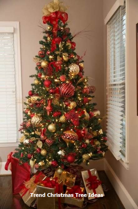 23 christmas tree ideas red gold