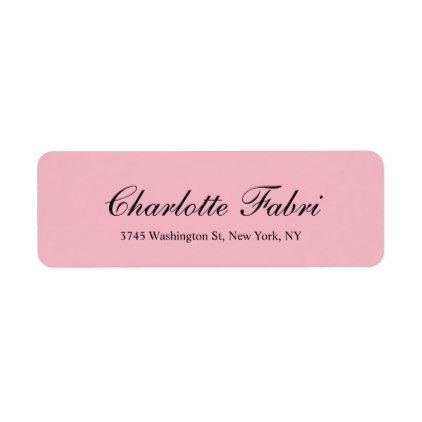 Professional Classical Pale Pink Script Label Zazzle Com With