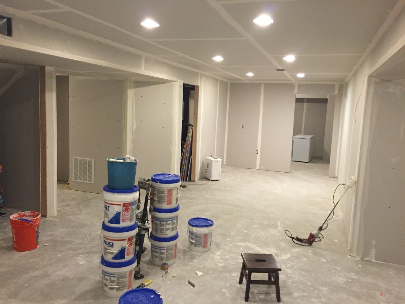 Finished Basement Remodel Project Finishing Drywall 9 2015 Ryan Homes Palermo Model Elevation A Finishing Basement Ryan Homes Unfinished Basement
