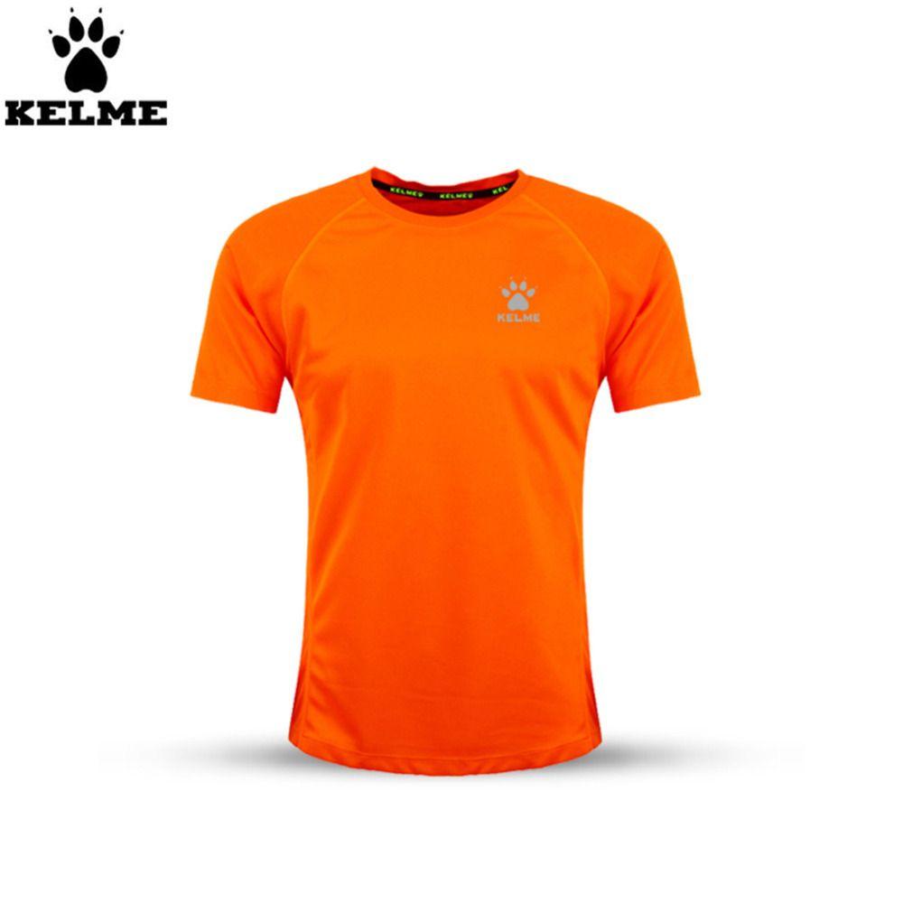 Kelme Men Summer Breathable Quick Dry Outdoor Short Sleeve T Shirt Soccer Jersey K15f230 Orange Sports Brands Soccer Jersey Mens Summer