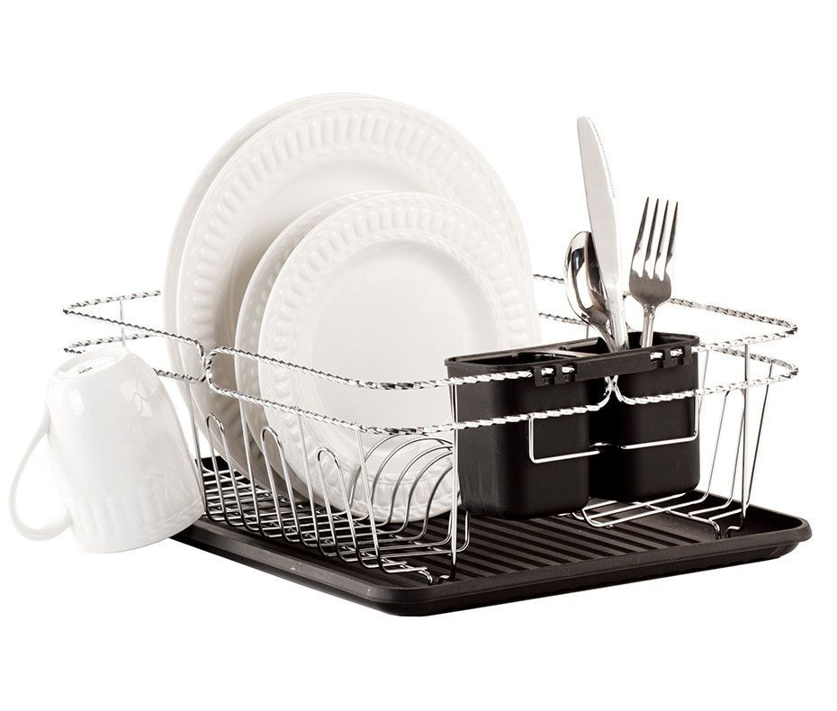 Sabatier Dish Rack Classy 3 Piece Twisted Dish Rack Set  Dish Racks Storage And Kitchens Review