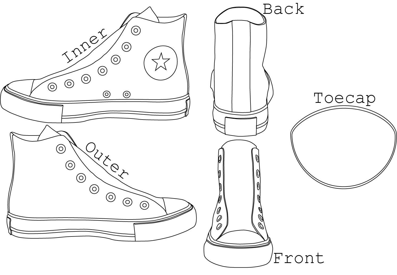 Fashion week Shoe Converse drawing design for woman