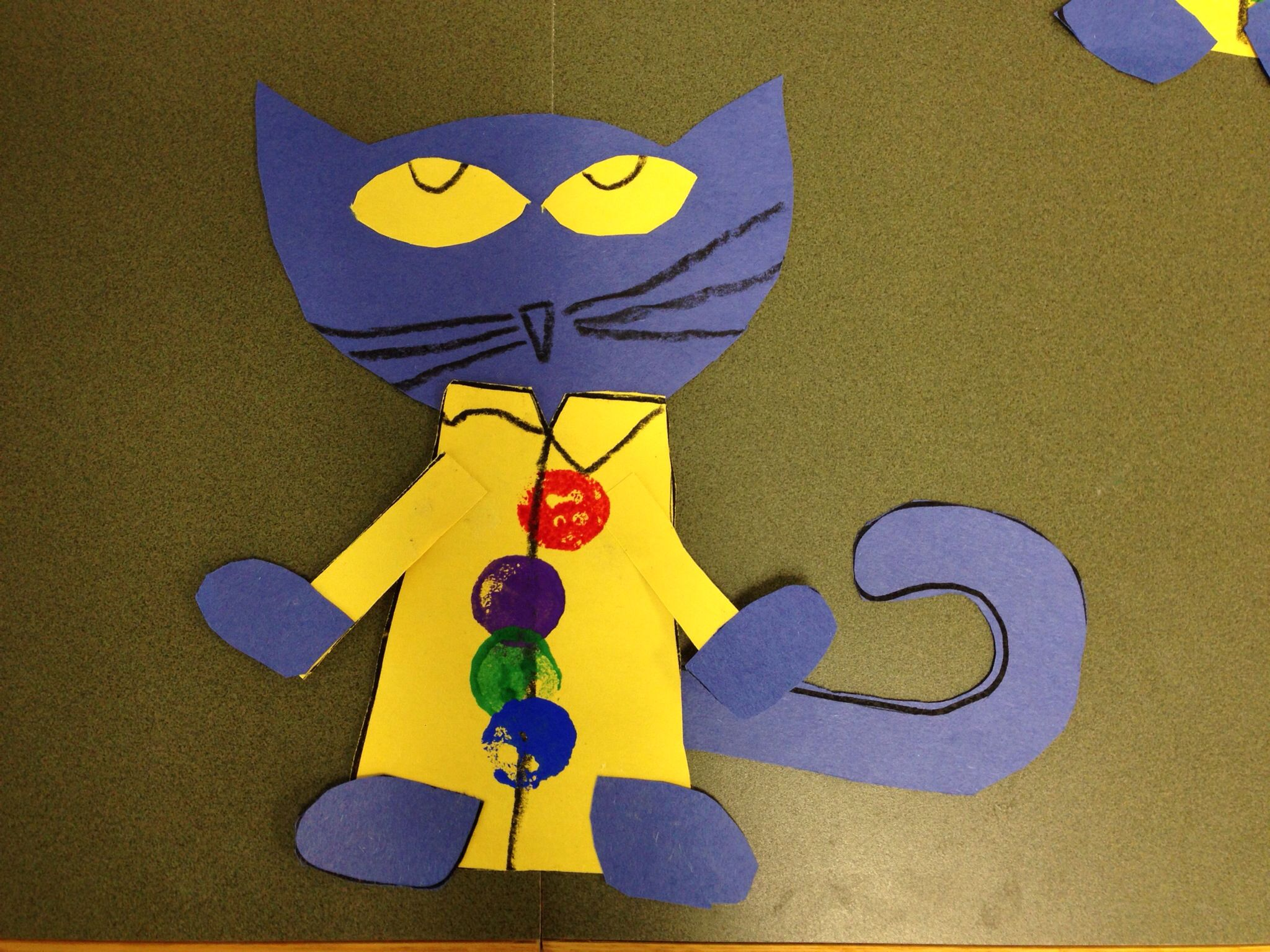 My Kindergartners Made Pete The Cat And His Four Groovy