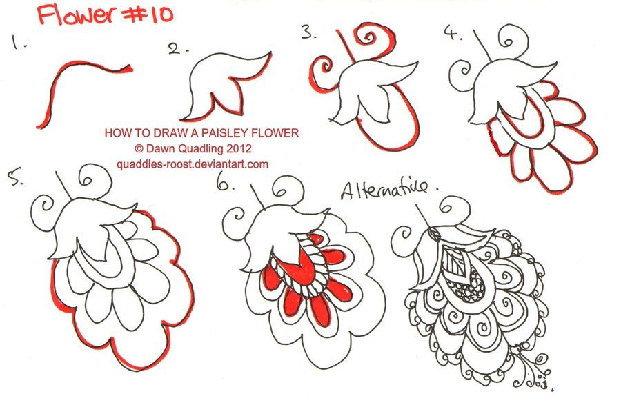 how to draw a paisley design