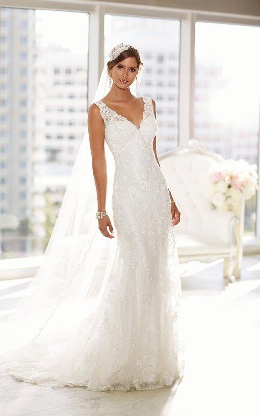 D1688 Lace Overlay Wedding Dress by Essense of Australia | favorite ...