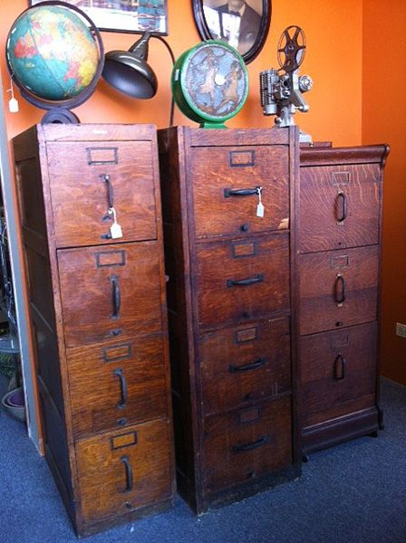 Cool Vintage File Cabinets at Broadway Antique Market | Design Dose - Cool Vintage File Cabinets At Broadway Antique Market Design Dose