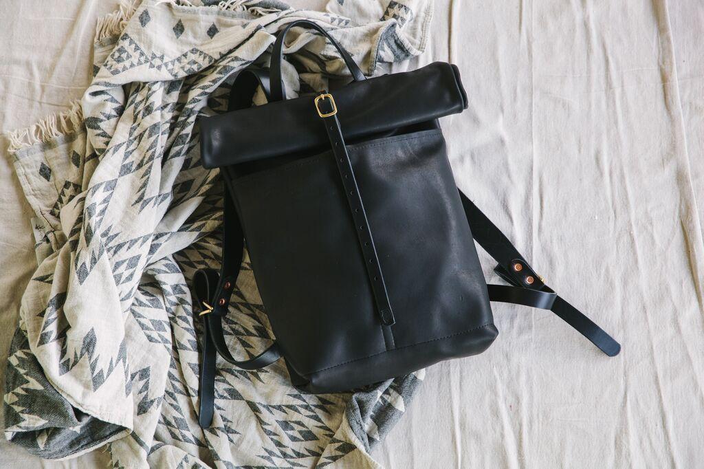 Leather Ruck Sack - Limited Edition Black Essex | Loyal Stricklin