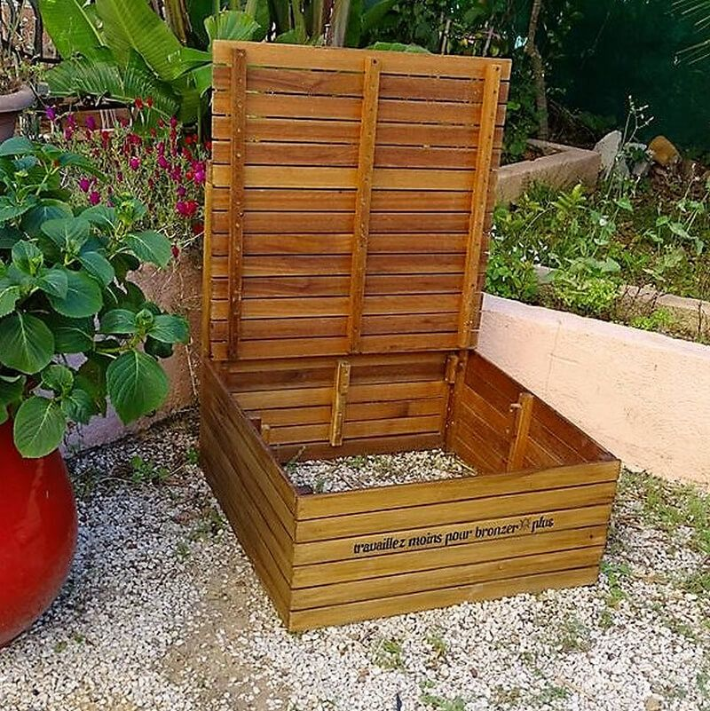Wooden Pallet Daybed with Storage | Wooden pallets, Pallet ...