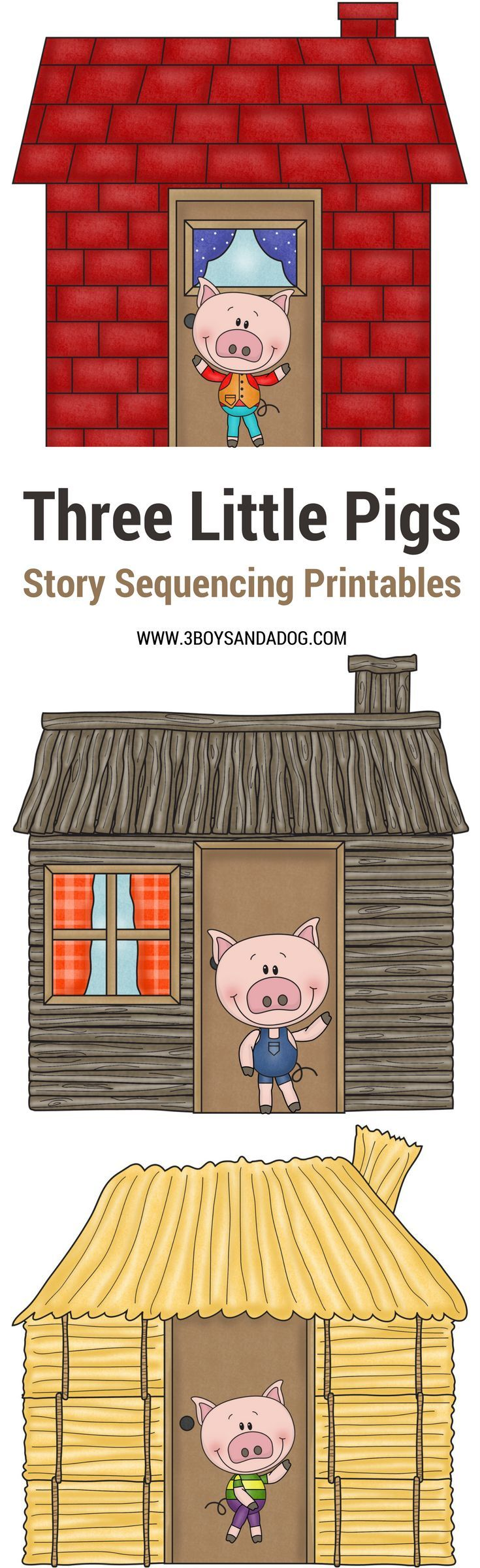 Selective image throughout 3 little pigs story printable