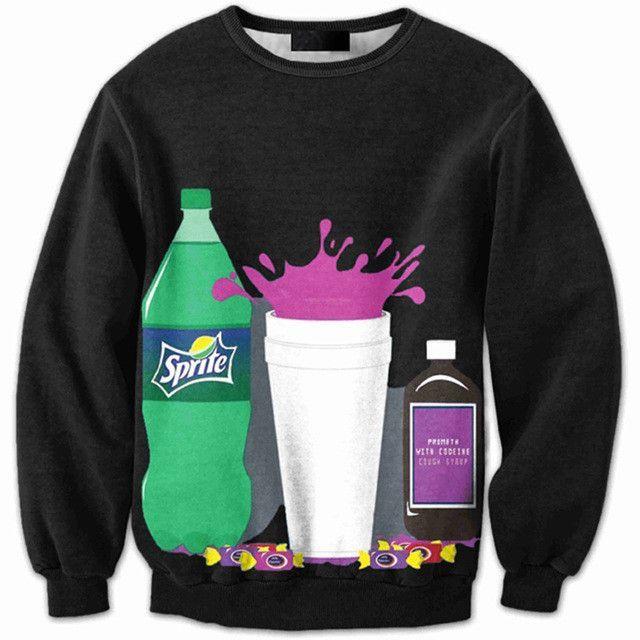 fa0c351e73c7 3D print sprite Soda plus size anti social social club thrasher palace bape  yeezy off white bape shark hoodies men sweatshirt