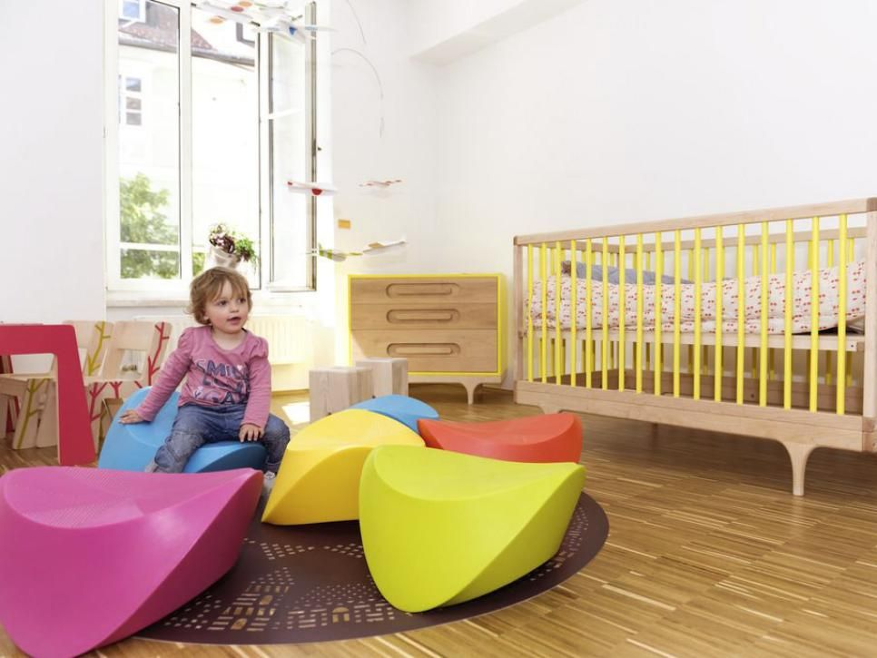 Don't have an extra room to devote to a full-time playroom? Check out these fun solutions from HGTV.com for adding a play area into your kid's bedroom.