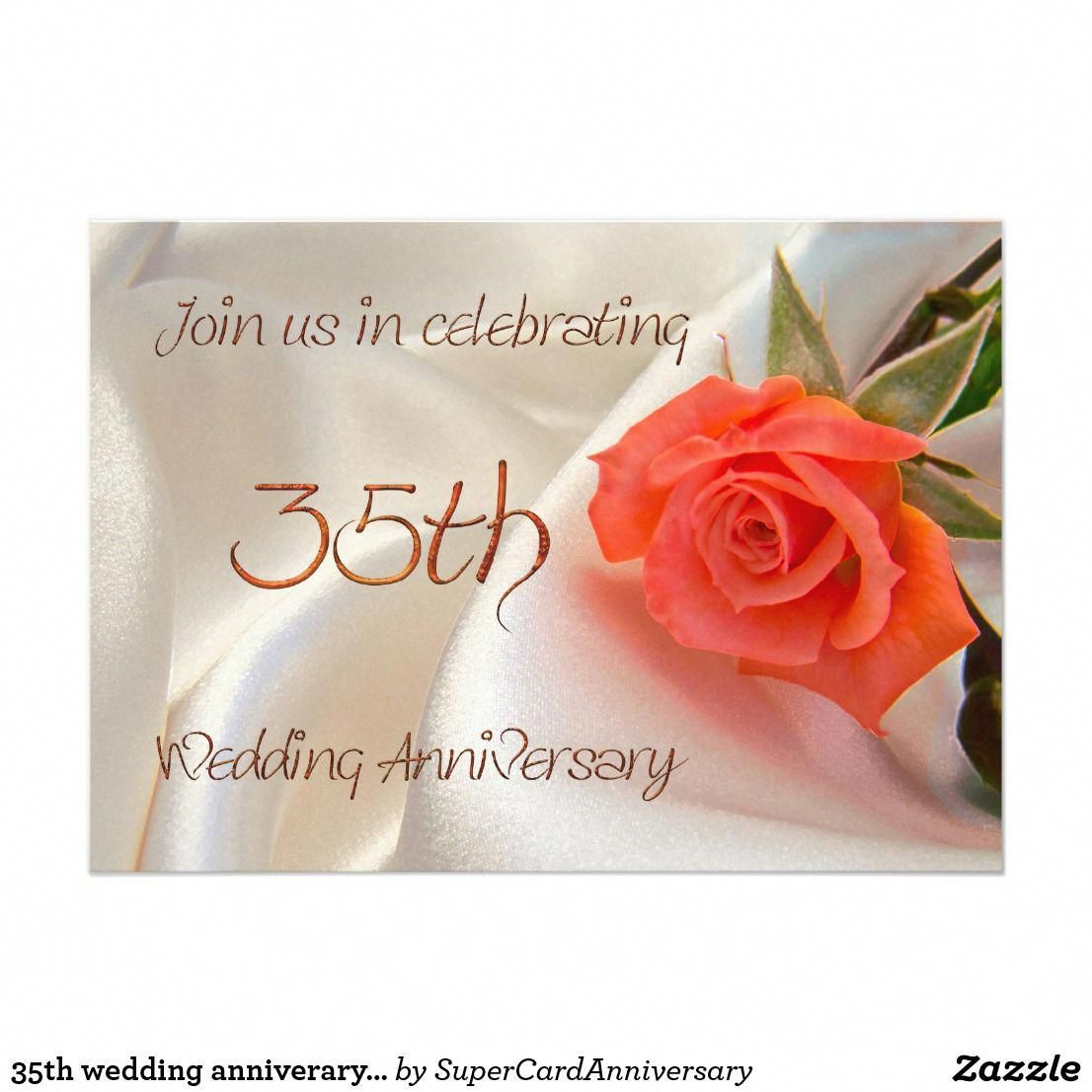 35th wedding anniverary party invitation | Wedding info | Pinterest ...